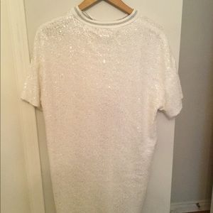 Beautiful White sequin Zara dress